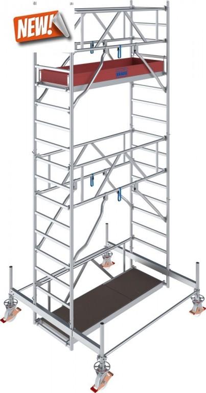 obrázek Hliníkové lešení pojízdné Stabilo 100 0,75x2,5m výška 5,4m KRAUSE