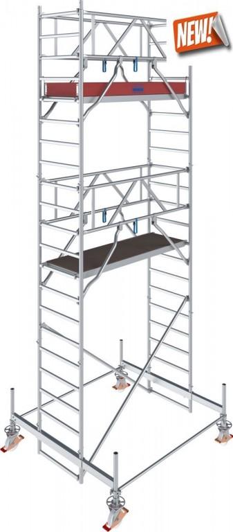 obrázek Hliníkové lešení pojízdné Stabilo 100 0,75x2,5m výška 6,4m KRAUSE