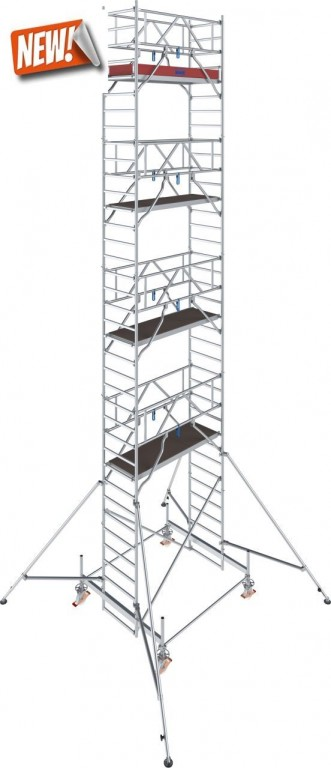 obrázek Hliníkové lešení pojízdné Stabilo 100 0,75x2,5m výška 10,4m KRAUSE