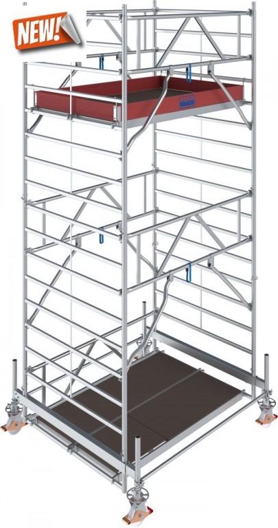 obrázek Hliníkové lešení pojízdné Stabilo 500 1,5 x 2,0m výška 5,4m KRAUSE