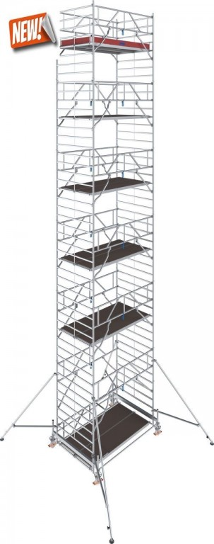 obrázek Hliníkové lešení Stabilo 500 1,5 x 2,5m výška 13,4m KRAUSE