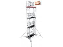 obrázek Pojízdné lešení hliníkové ProTec XS skládací 0,7 x 2,0m výška 8,8m