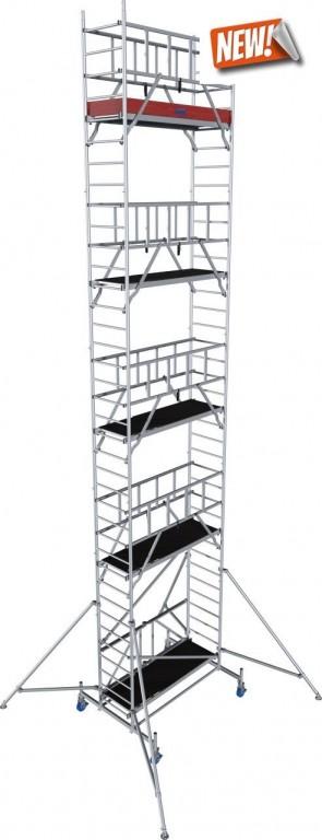 obrázek Pojízdné lešení hliníkové ProTec XS skládací 0,7 x 2,0m výška 10,8m
