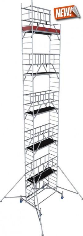 obrázek Pojízdné lešení hliníkové ProTec XS skládací 0,7 x 2,0m výška 11,8m