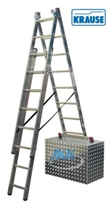 obrázek Žebřík hliníkový na schody 3x9 TR HOBBY KRAUSE