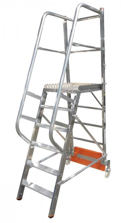 obrázek Podesta VARIO 6 stupňů hliníkové schody šířka 0,82m KRAUSE