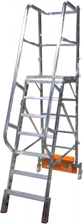 obrázek Podesta VARIO 7 stupňů hliníkové schody šířka 0,82m KRAUSE