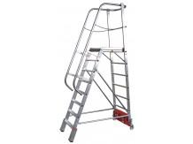 obrázek Podesta VARIO 8 stupňů hliníkové schody šířka 0,82m KRAUSE