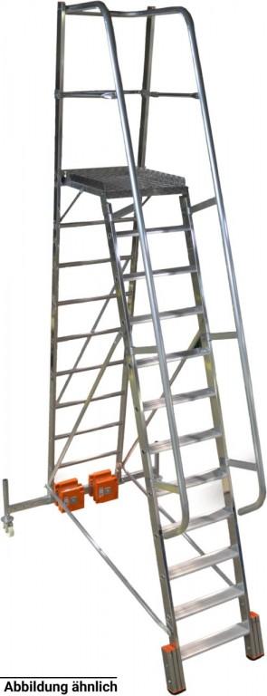 obrázek Podesta VARIO 9 stupňů hliníkové schody šířka 1,44m KRAUSE