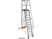 obrázek Podesta VARIO 10 stupňů hliníkové schody šířka 1,44m KRAUSE