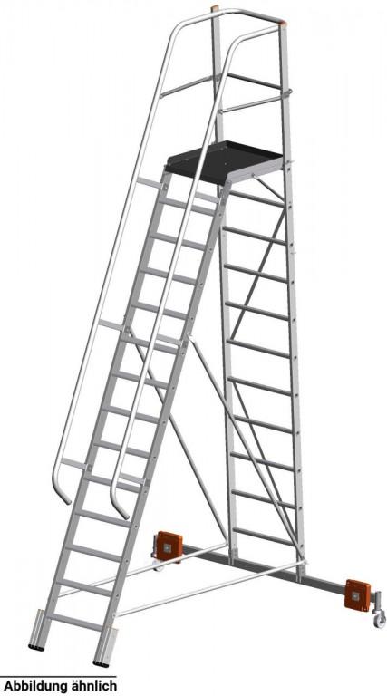 obrázek Podesta VARIO 10 stupňů hliníkové schody šířka 2,07m KRAUSE