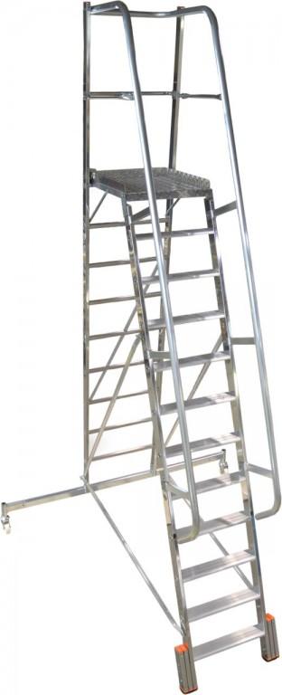 obrázek Podesta VARIO 12 stupňů hliníkové schody šířka 2,07m KRAUSE