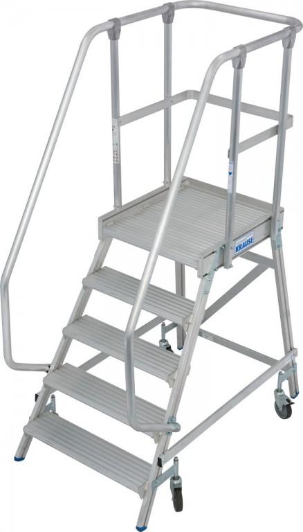 obrázek Průmyslové schody JEDNOSTRANNÉ STABILO 5 stupňů KRAUSE