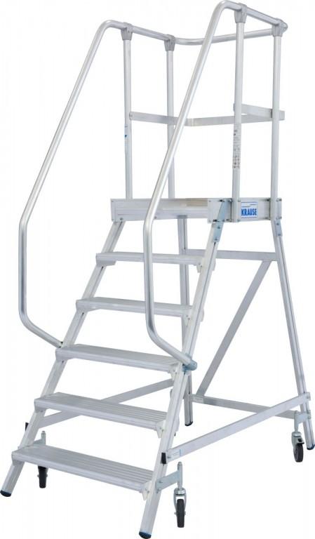 obrázek Průmyslové schody JEDNOSTRANNÉ STABILO 6 stupňů KRAUSE