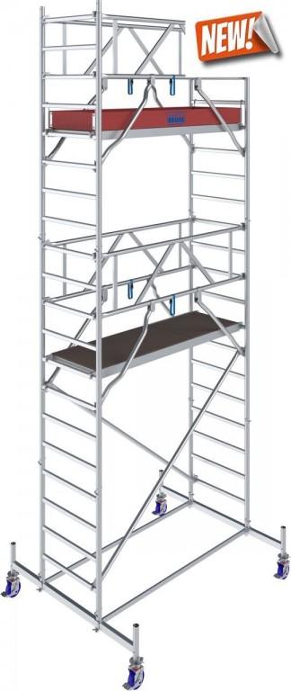 obrázek Pojízdné lešení hliníkové Stabilo 10 délka 2,5m výška 6,4m KRAUSE