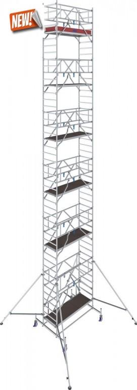 obrázek Pojízdné lešení hliníkové Stabilo 10 délka 2,5m výška 13,4m KRAUSE