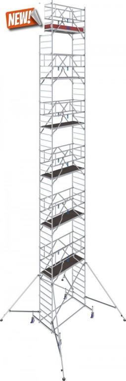obrázek Pojízdné lešení hliníkové Stabilo 10 délka 2,5m výška 14,4m KRAUSE